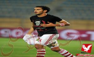 عمر جابر يخرج مصابا من مران الزمالك