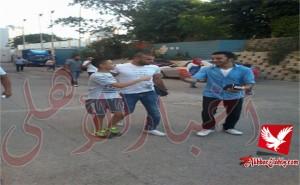 لاعبو الاهلي يتوافدون علي ملعب التتش