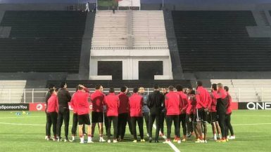 تقسيمة قوية للاعبي الأهلي في المران الأخير بالجزائر